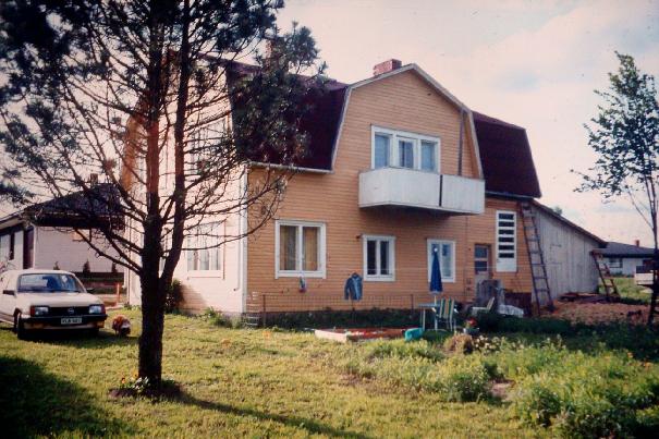 Så här såg Anderssons hus ut just före det revs.