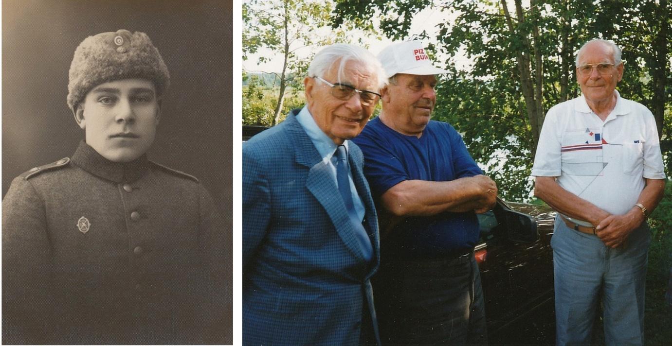 Till vänster: Bertel på 30-talet. Till höger: Bertel i mitten, t.v. småkusinen Einar Båsk från Helsingfors och t.h. brodern Ragnar.