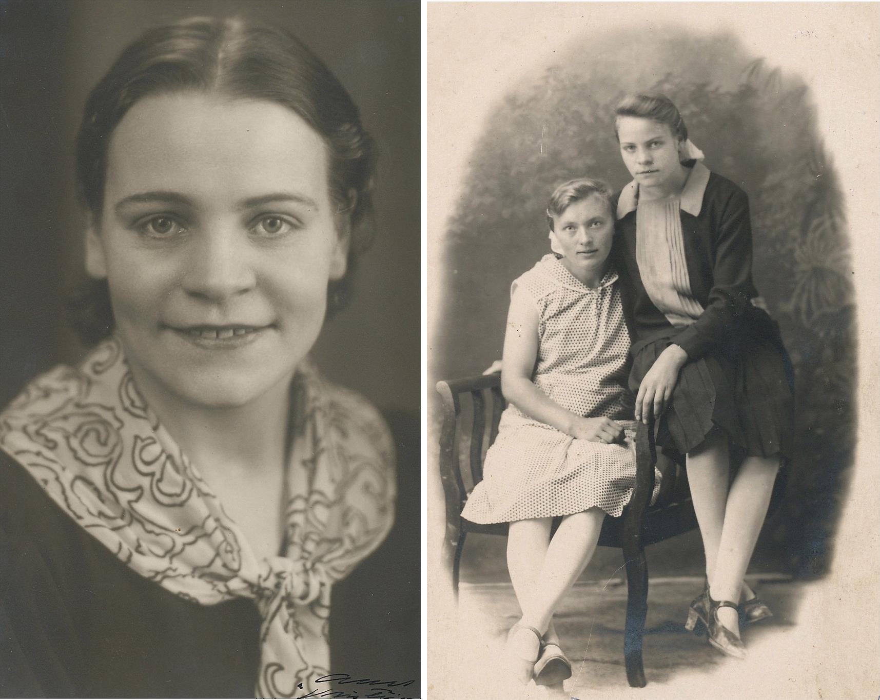 Här Adele i unga år, hon som sitter i stolen är Anna Krook.