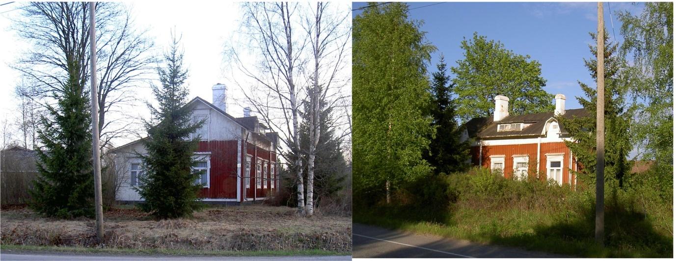Det var i den här gården på Korsbäckvägen som Adele och Selim bodde i på 40-talet.