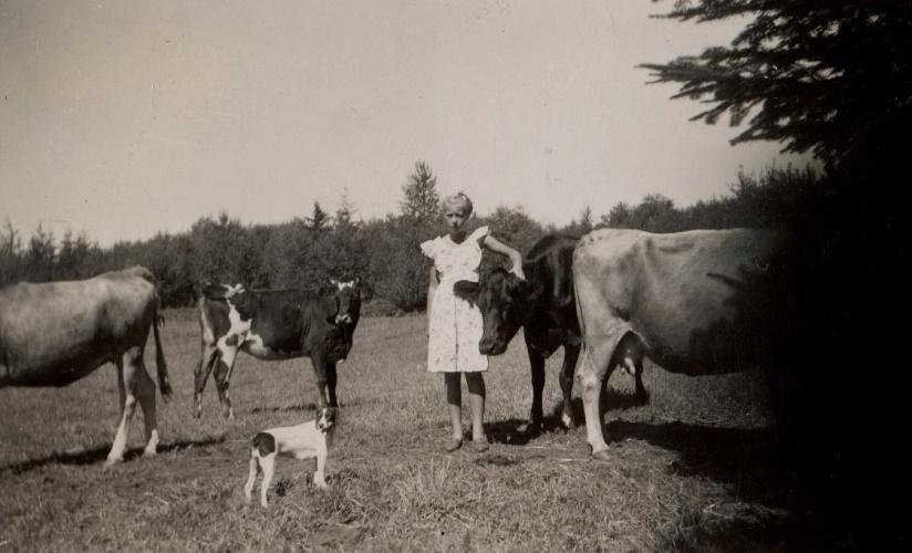 På fotot Julia Noréns dotter Anita Helsing. Anita gifte sig år 1954 med Mike Balogh.