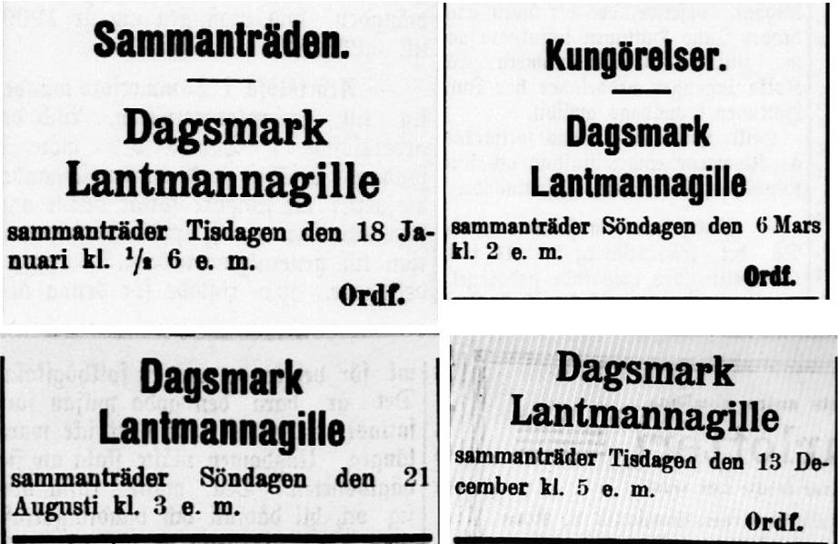 År 1910 annonserades det flitigt, hela 4 gånger.