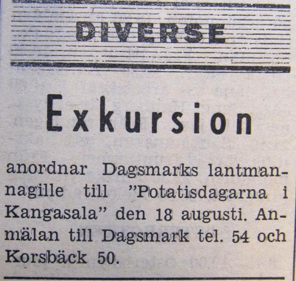 År 1972 ordnades en resa till Kangasala.