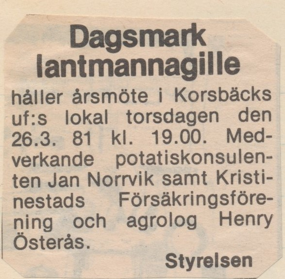 Möte 1981.