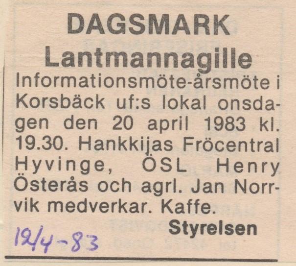 Möte 1983.