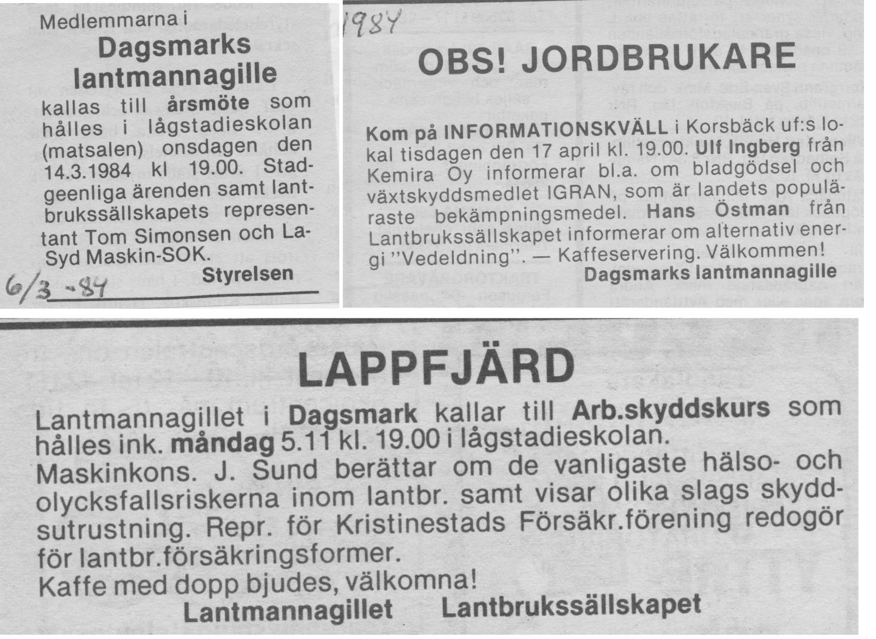 1984 annonserades det flitigt.