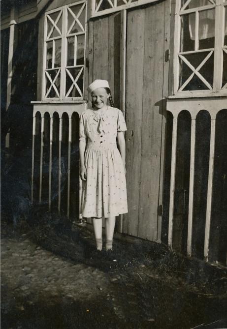 På bilden Emil och Huldas dotter Gerda Klåvus (1925-1945).