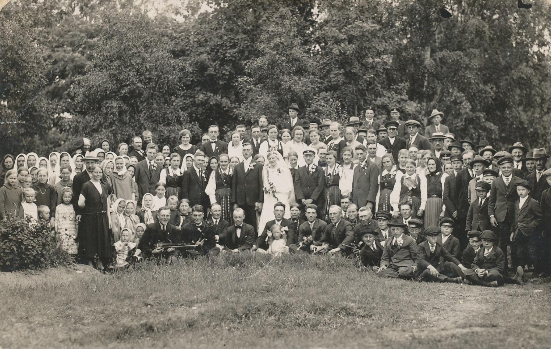 Bröllopsfotot av Valdemar Rosengren och Hilma Agnäs, taget i juli 1927.
