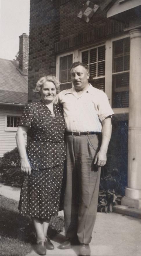 På fotot Anselm Nyström tillsammans med sin syster Cecilia i Amerika.