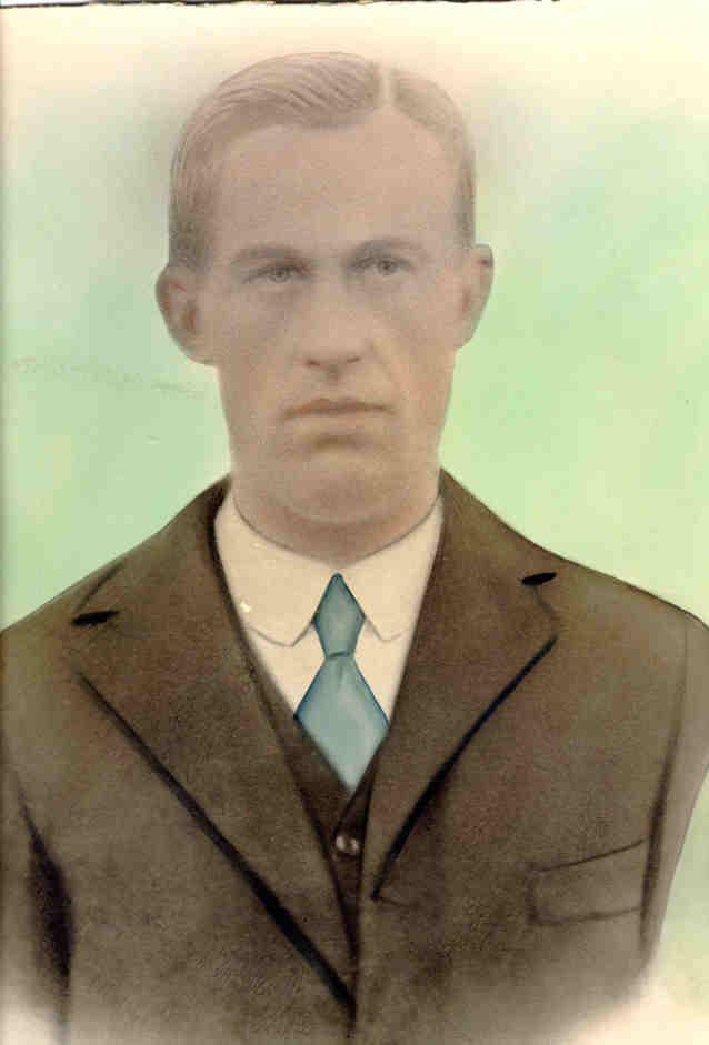 Porträtt av Erik Anders Rosengård i unga år.