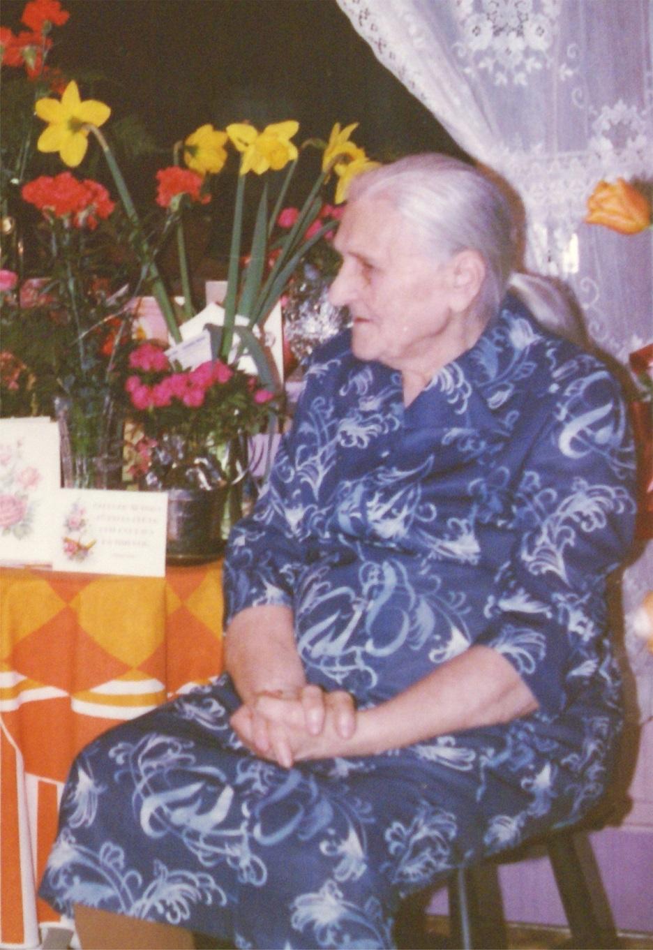 Här Alvina Rosengård på äldre dar.