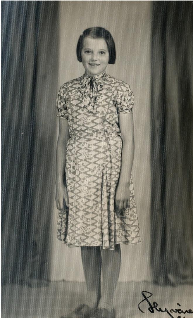 Den unga flickan på fotot är Inga-Lisa Nyström (1938-1972).