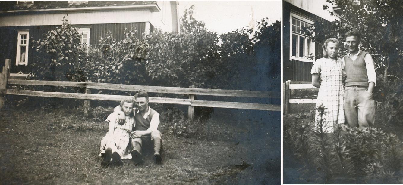 Här på bilderna Ellen Westerback och Ragnar Skogman, någon gång på 1930-talet.
