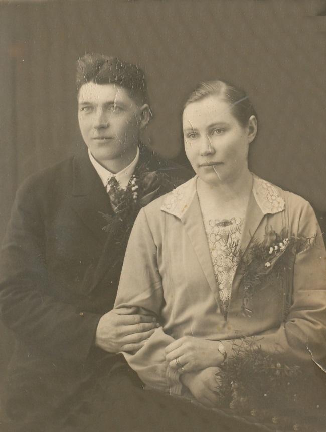 Selim och Agnes Blomkvist år 1929.