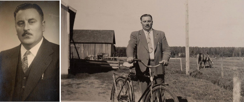 På bilderna Anselm Lillkull, som var född i Dagsmark men som flyttade till Amerika då han blev vuxen.