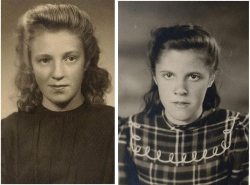 Otto och Amandas döttrar Alice t.v. och Else t.h.