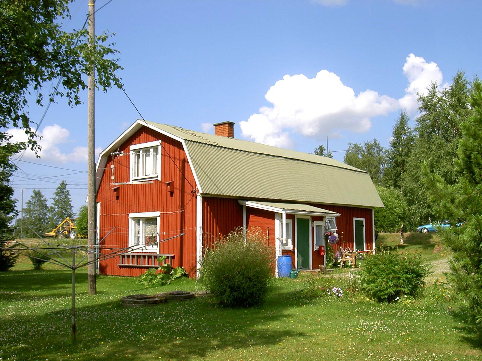Birger och Anna Sonntag bodde i detta hus fram till sin död. Fotot från 2003 är taget från öster.