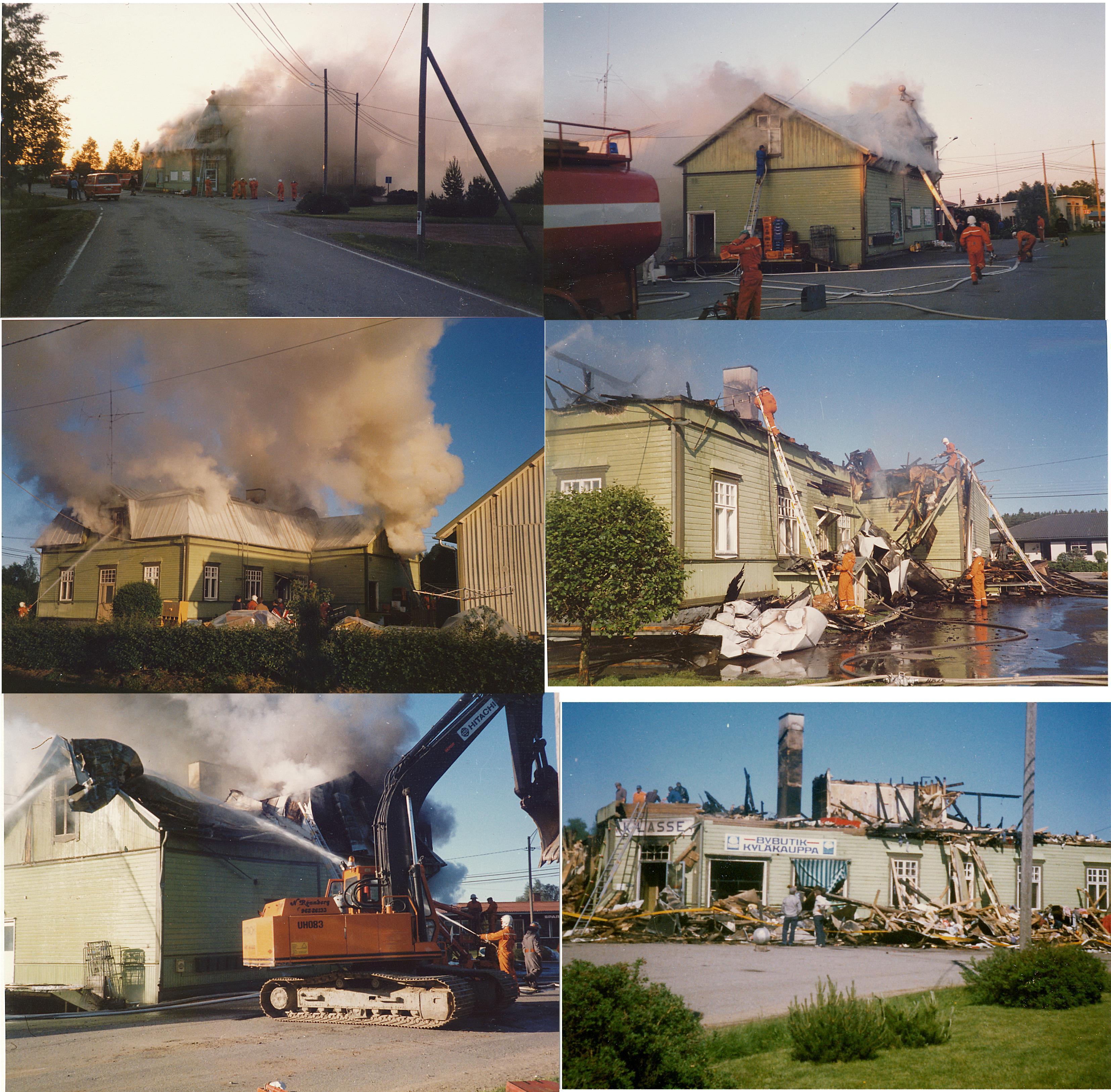 De flesta av dessa bilder från branden är tagna av John Hammarberg.