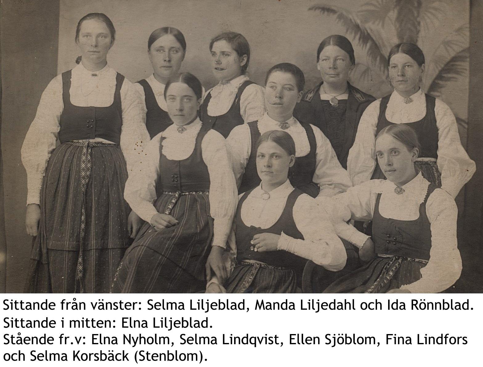 9 kända damer från Korsbäck med namn