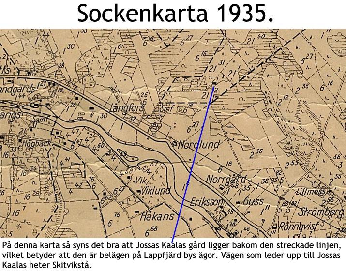 Karta över Jossas Kaalas