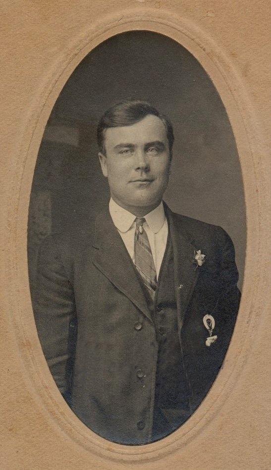 På fotot Johan August Wester. I vanliga fall kallades han bara för Wester för många av hans vänner och bekanta i Dagsmark visste inte ens vad hans riktiga förnamn var.