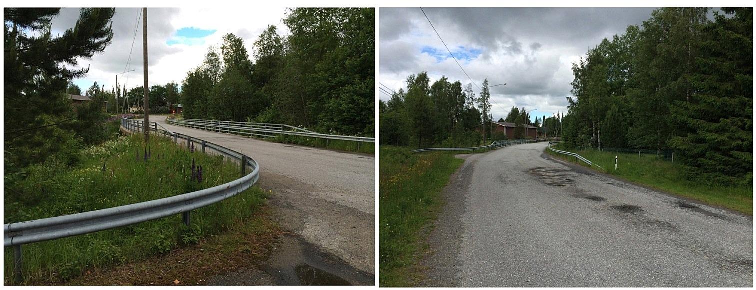 Så här ser Lillbron ut då man kommer från A-sidon. Som man kan se av bilderna har vägytan gått sönder på flera ställen. Ytan repareras vid behov.
