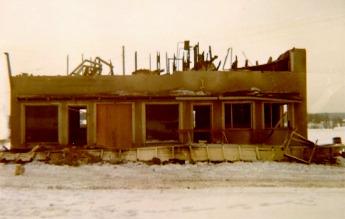 Så här såg det ut då huset revs på vårvintern 1971.