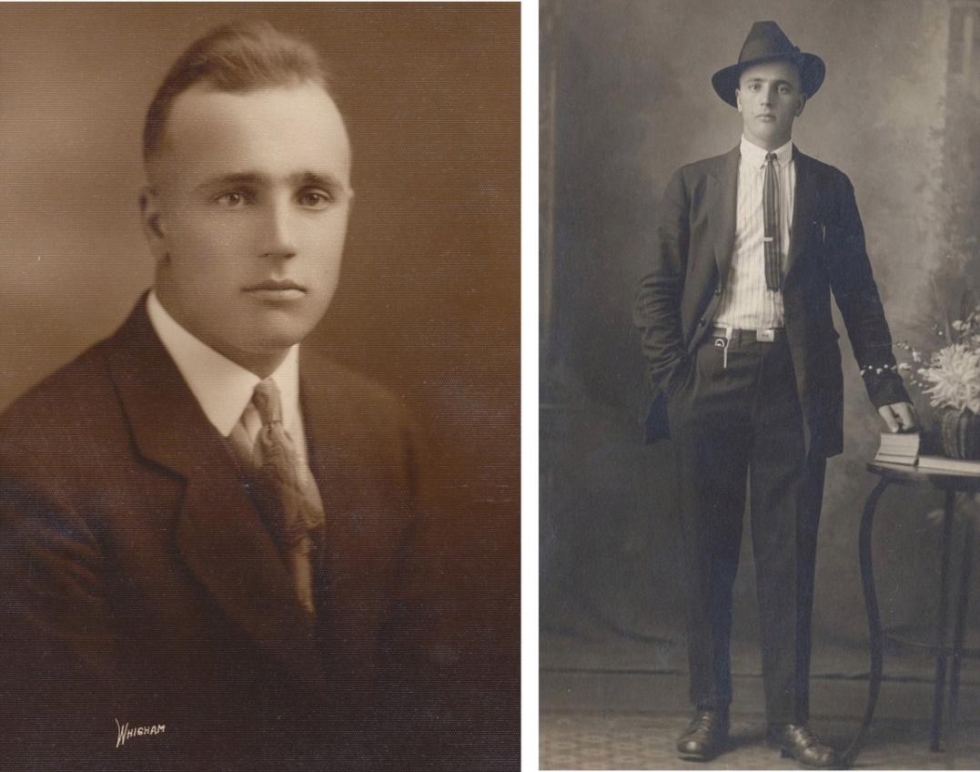 Här 2 foton av Emil tagna den tiden han vistades i Amerika.