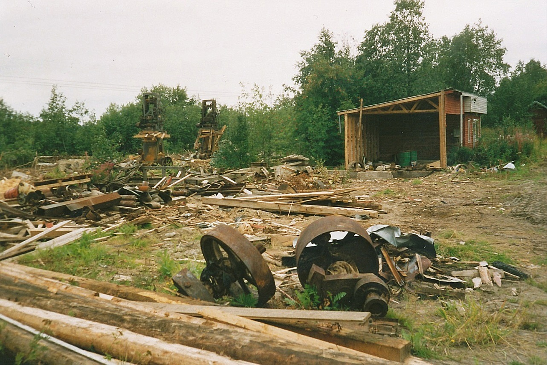 Så här såg det ut i slutet på 80-talet. Nästan ingenting fanns kvar av Klemets Såg.