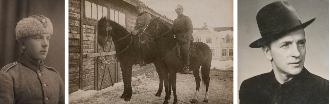 På bilderna Anselm Storkull, på bilden i mitten sitter han till höger.