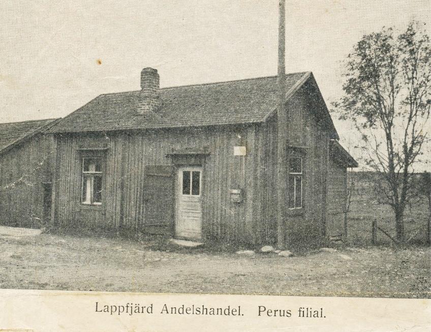 Så här såg den första filialen ut som Lappfjärds Andelshandel öppnade i Perus.