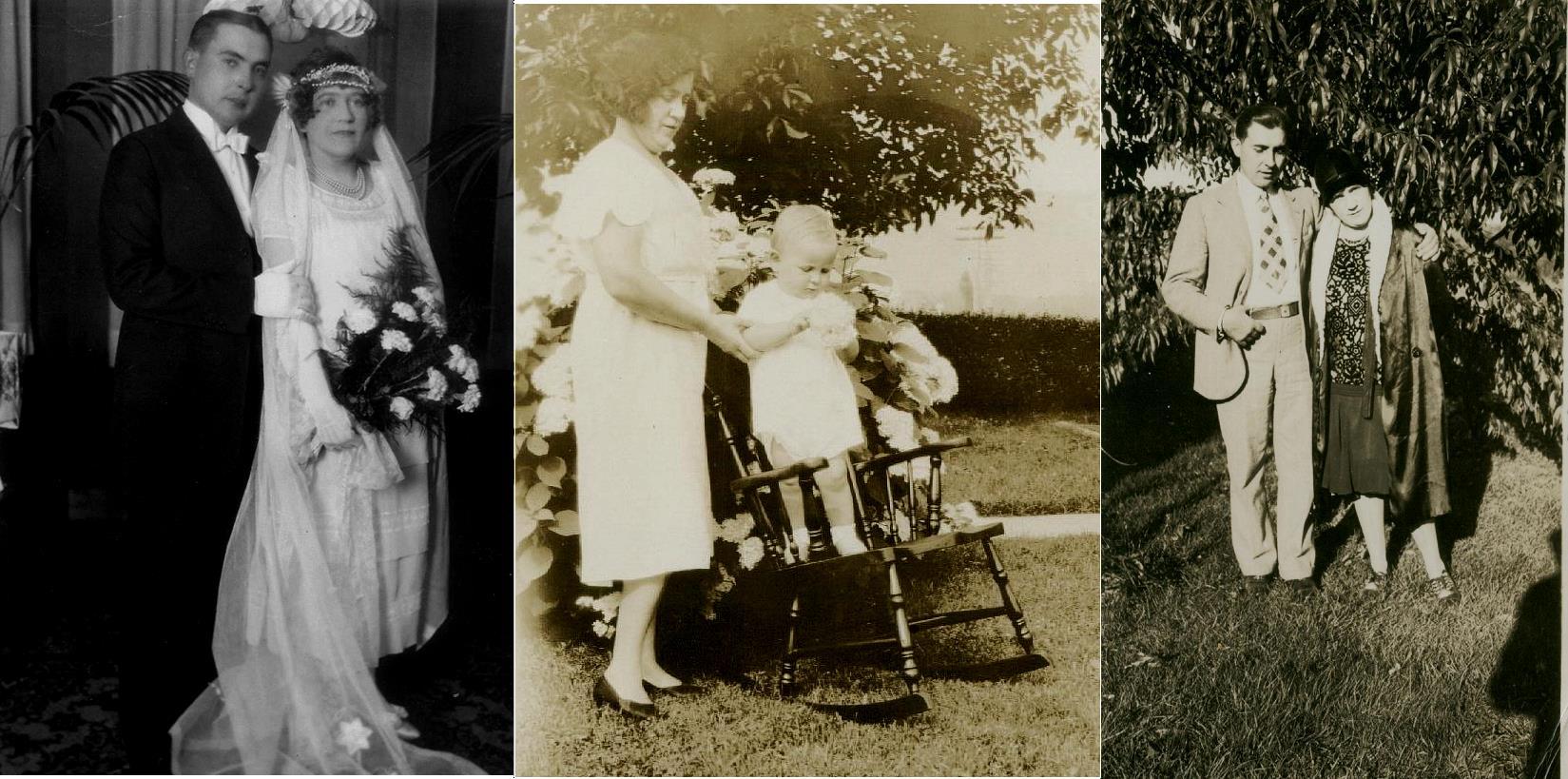 Här ovan några bilder av Frans Lillkull och hans hustru Signe, hemma från Sverige. På bilden i mitten också deras son Kenneth. Frans tog ju namnet Frank Lind i bruk då han flyttade till Amerika.