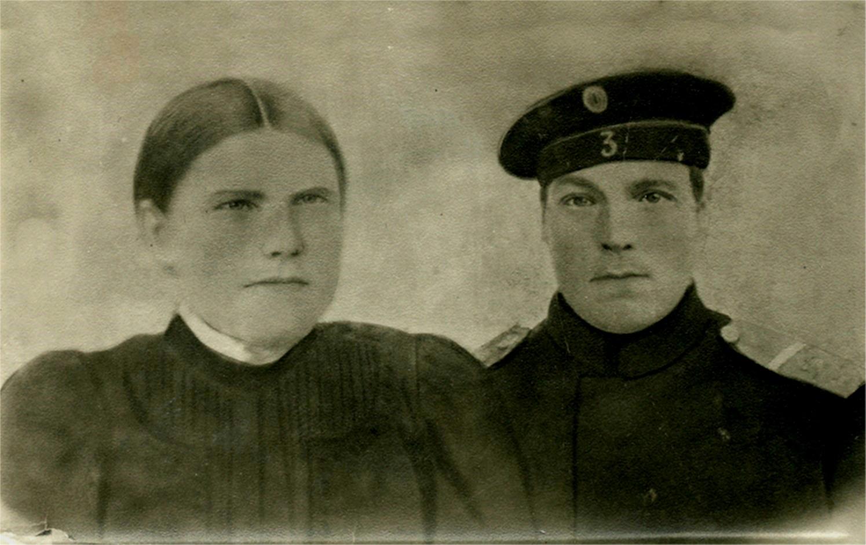 På fotot Adelina och Karl Löfgren.