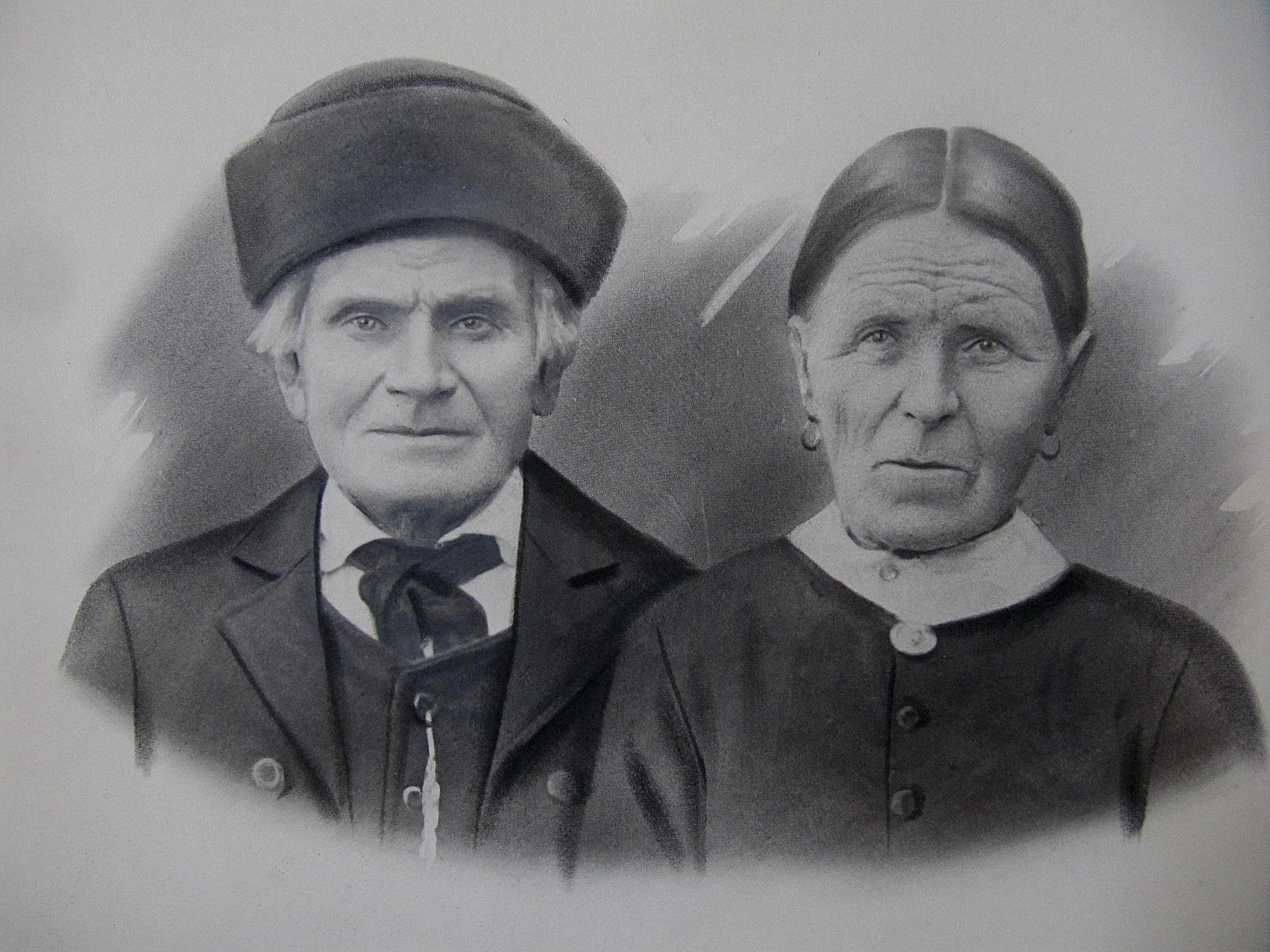 På bilden Gustav Långfors som kallades Mokkelin, tillsammans med hustrun Greta.