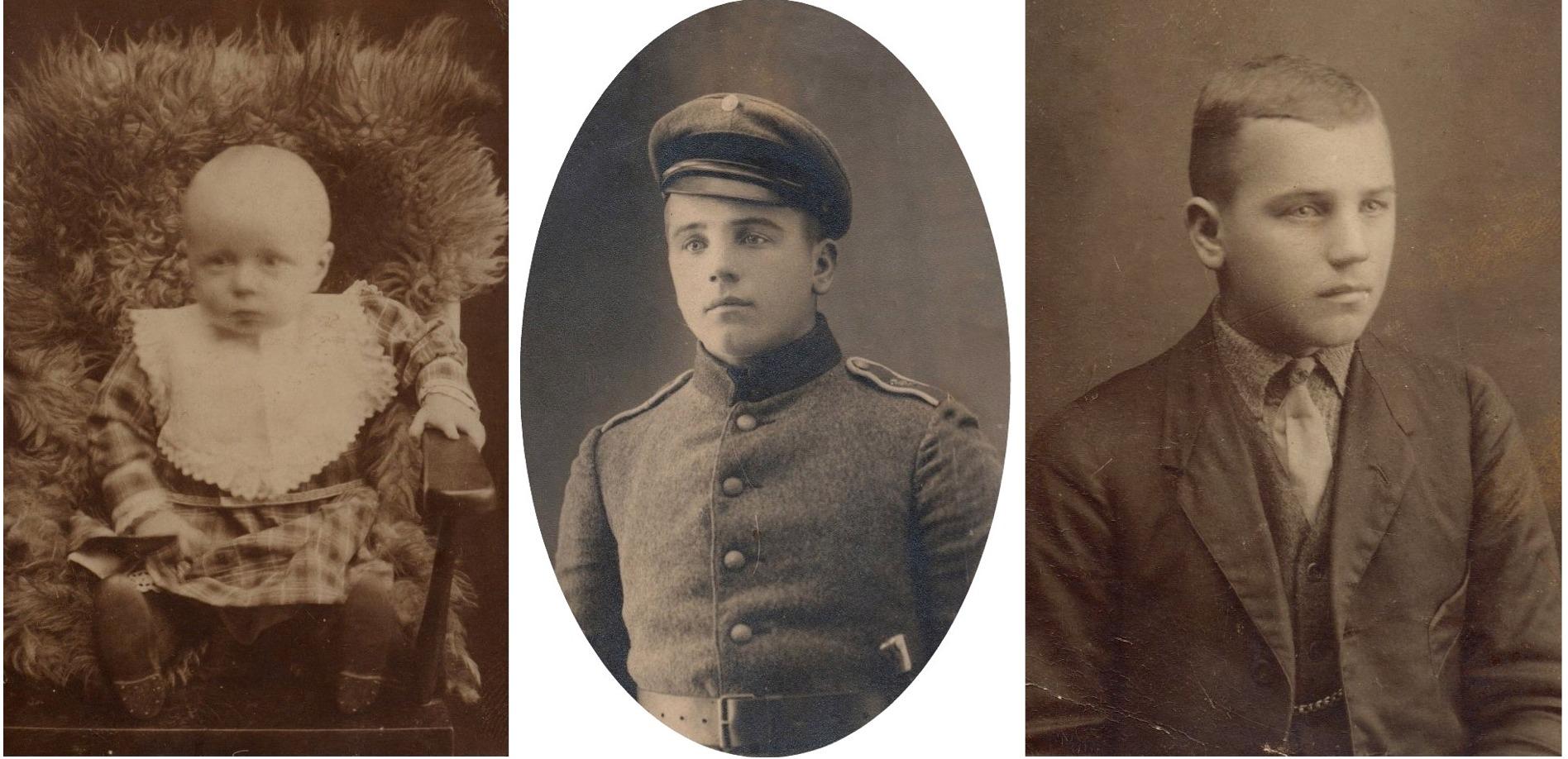 Den lilla pojken är Egil och på de 2 andra bilderna pappa Evert Storkull.