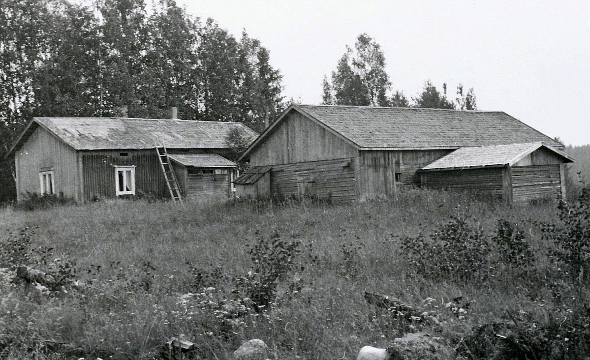 Fotot taget från väster i slutet på 1960-talet. Fotografen var Artur Rosengren då han företog en mopedfärd från Träskvik till Dagsmark.