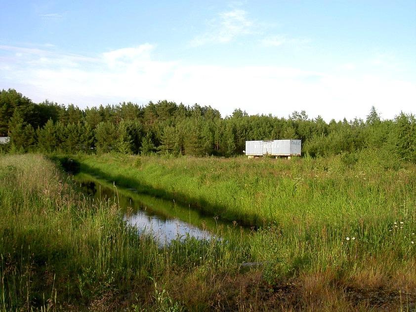 Fiskodlingarna avslutades småningom och år 2004 såg området ut så här. Fiskarna odlades i sådana bassänger.Området ägs i dag av statliga myndigheter som återställt sågområdet i ursprungligt skick.