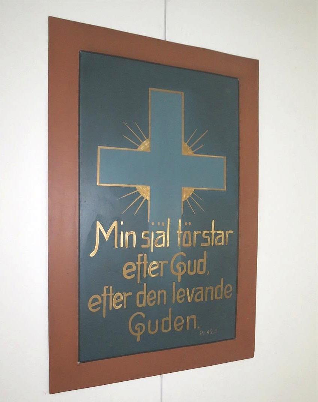 Till julen 1996 fick avdelningen en penninggåva efter Södra Bönehusets tomtförsäljning i Lappfjärd och senare denna tavla som gåva.