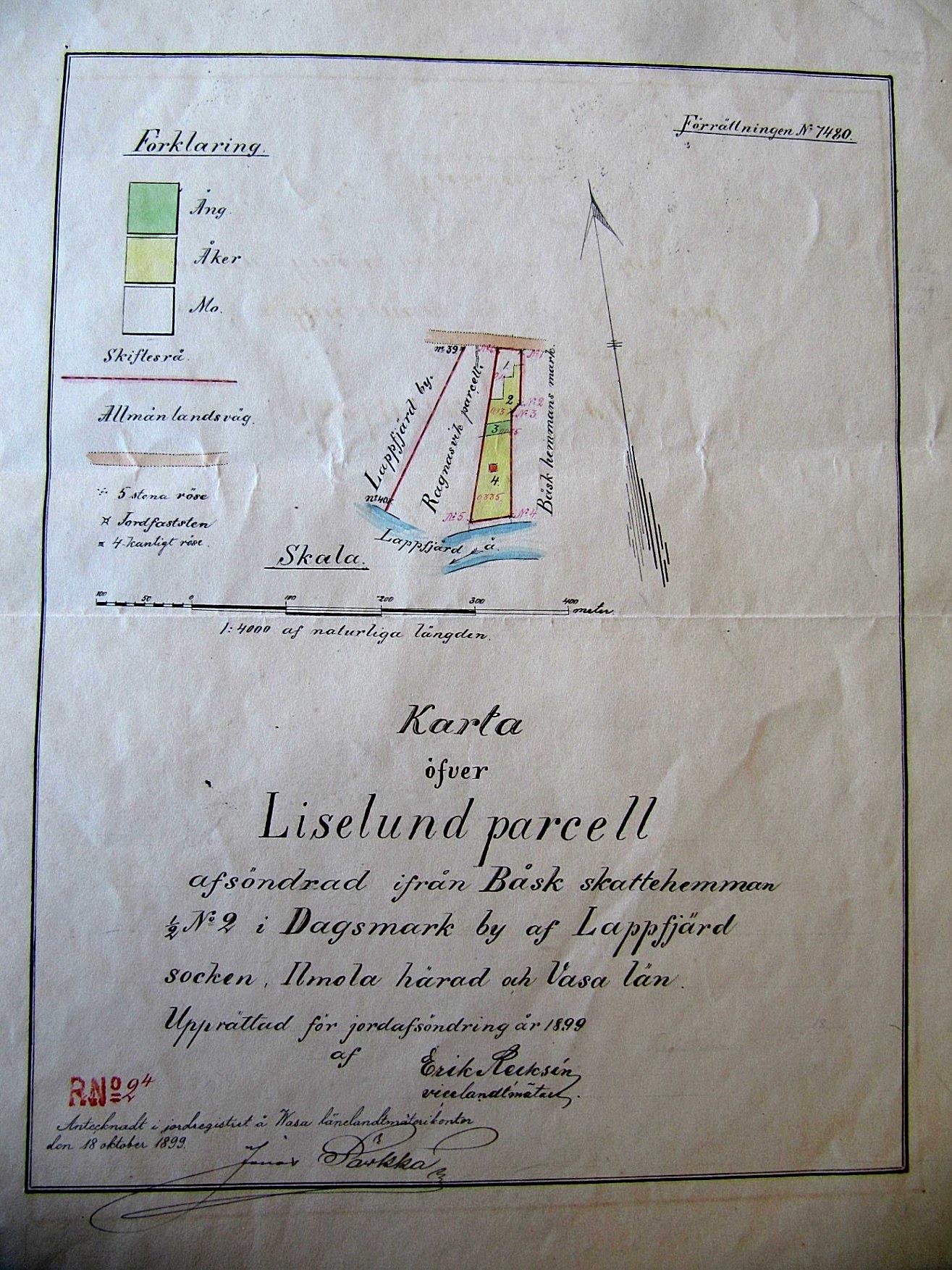 I juni 1896 köpte Wendelin ett område som fick namnet Liselund om 1 ½ tunnland till av Böleskiftet som hörde till Båsk skattehemman. Kartan som visar var Liselund ligger är uppgjord 1899. Malakias Eriksson Båsk undertecknade köpebrevet och kvitterade köpeskillingen om 500 mark.