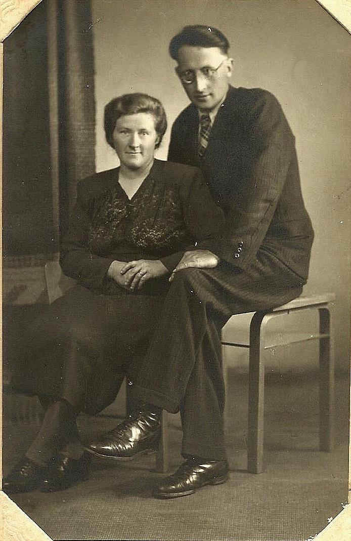 Här Arvid och Alice som nygifta år 1946. Foto: Aavamo.