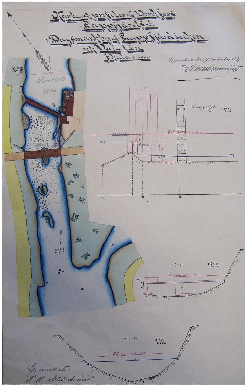 Här den välgjorda kartan i sin helhet med skärningar och profiler.