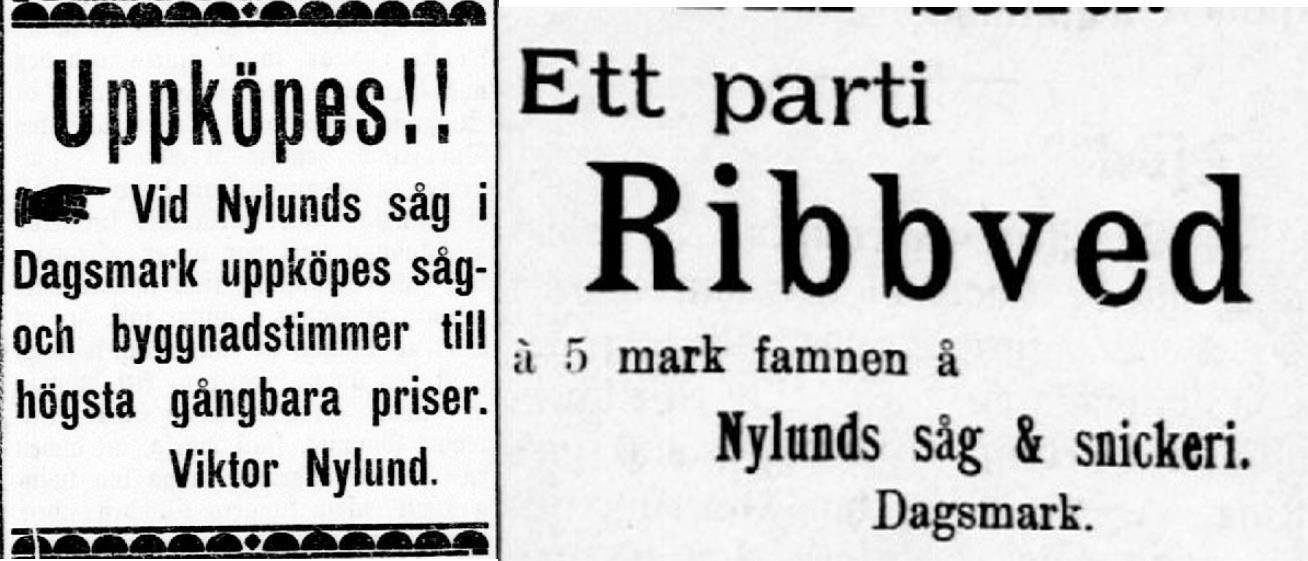 År 1909 var Viktor en flitig annonsör och det hände att han ville både köpa och sälja i samma tidning.