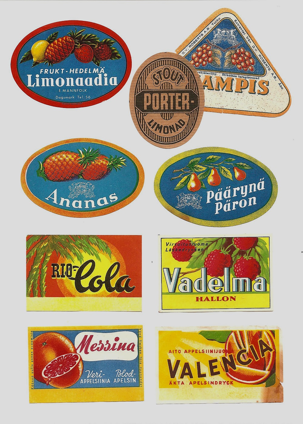 Så här kunde etiketterna se ut på de lemonadflaskor som Egil Mannfolk tillverkade i uthuset hos Ernst Lindell. Det har ju funnits många lemonadfabriker i Dagsmark i tiderna, den mest kända är väl Bror Vikfors som i slutet på 1950-talet köpte sin första maskin av Eskil Guss och han höll på fram till början på 1970-talet. Mellan åren 1925 till 1930 tillverkade Emil Nyholm lemonad i det hus som kallades för Mylläris hus.