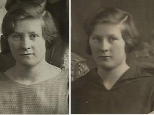 Här 2 foton av Alice Vidal då hon gick i skriftskola i Malax.