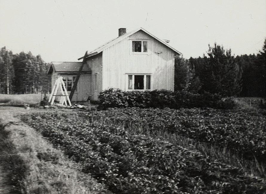 Lillkull Arvids gård fotograferad från vägen.