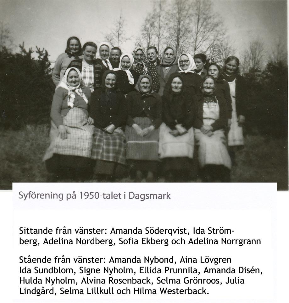 Syföreningen korrekt på 50-talet i Dagsmark