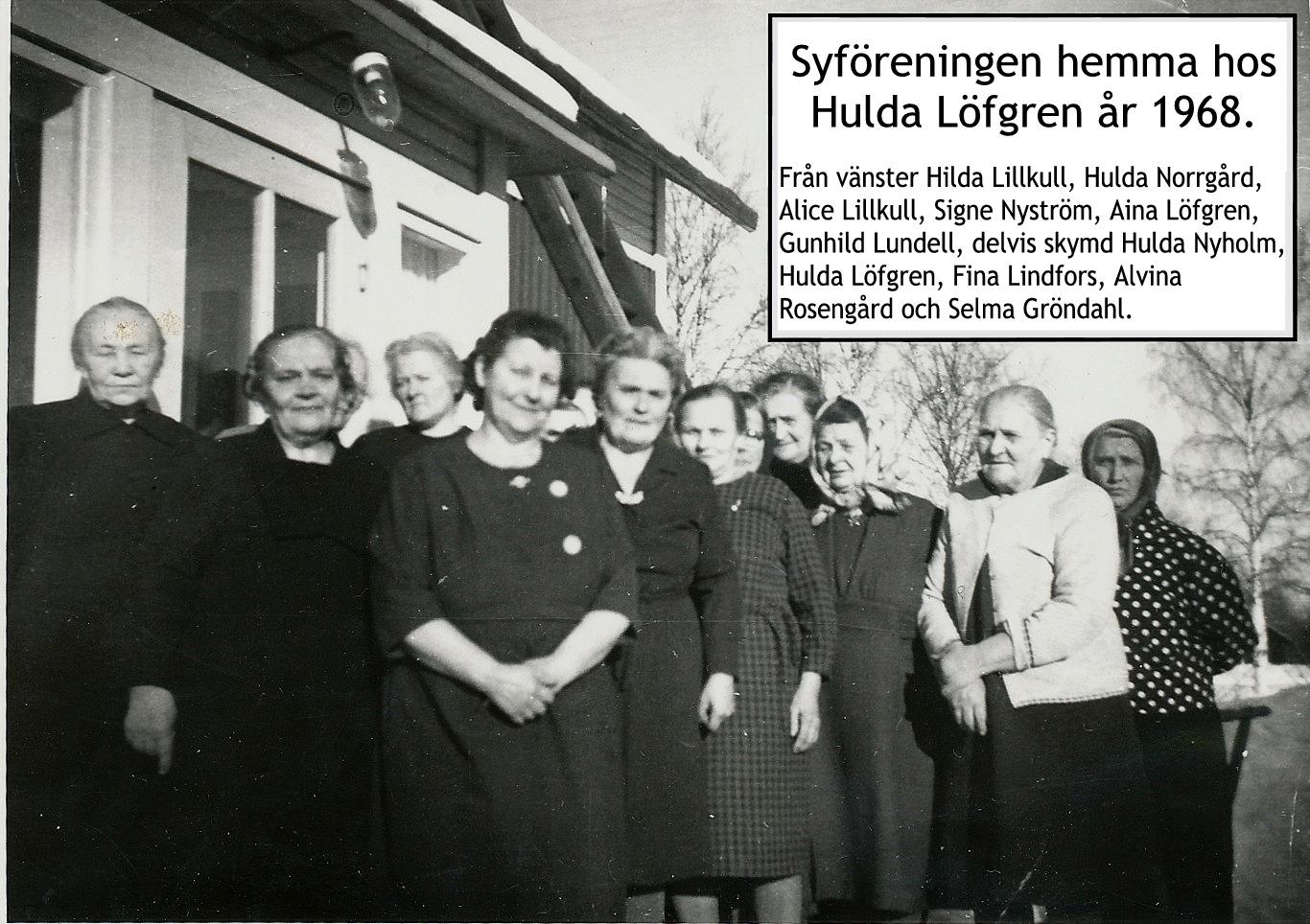 Symöte hos Hulda Löfgren 1968