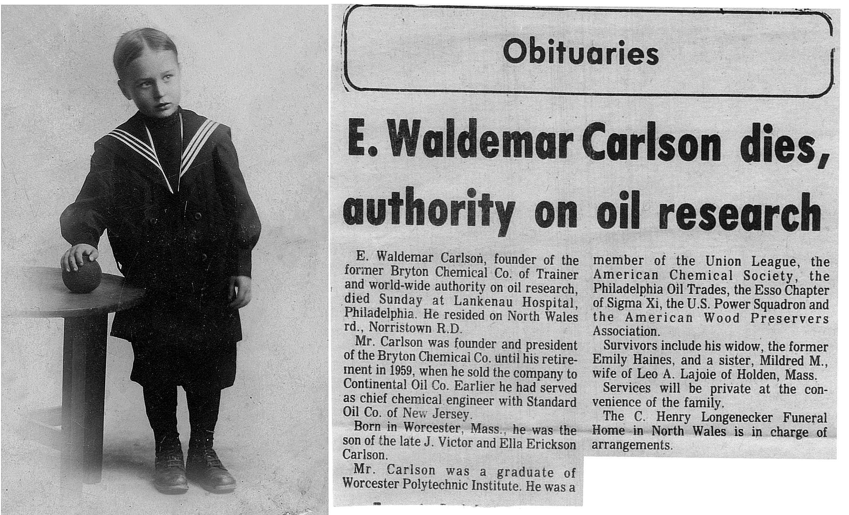 Här Victors son Waldemar som levde mellan åren 1907-1976 och var en framgångsrik företagare i oljebranschen i Amerika.