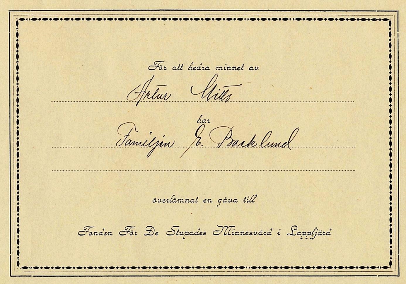 Fondkorten som trycktes upp var dubbelvikta, 14 cm höga och 20 cm breda.