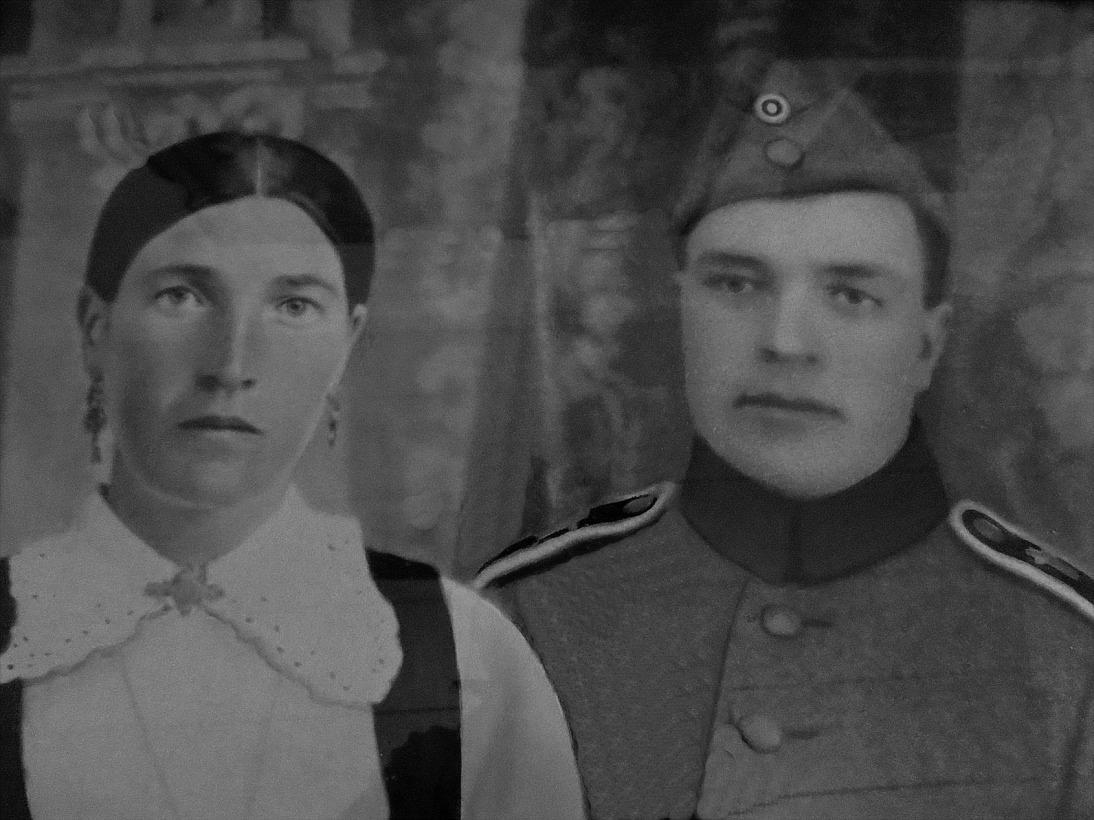 Här ett porträtt av Hulda och Arthur Berg.